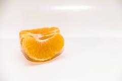 Mandarines d'isolement sur le blanc Photos stock
