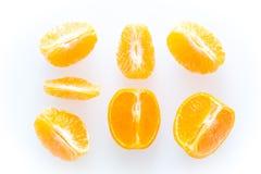 Mandarines d'isolement sur le fond blanc Image libre de droits