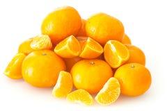 Mandarines d'isolement sur le fond blanc Photographie stock