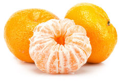 Mandarines d'isolement sur le fond blanc Photo stock