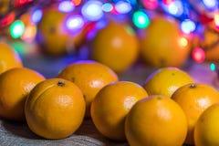 Mandarines dans le temps de Noël photos libres de droits