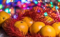 Mandarines dans le temps de Noël photo libre de droits