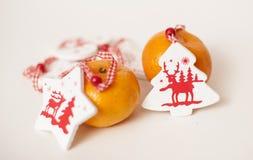 Mandarines de la Navidad Fotos de archivo libres de regalías
