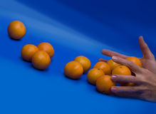 Mandarines de roulement Image stock