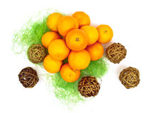 Mandarines decoration Stock Photography