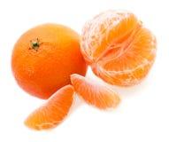 Mandarines en el blanco Fotografía de archivo libre de regalías