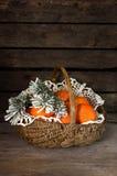 Mandarines en la cesta Imagenes de archivo