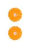 Mandarines enteros y cortados determinados Imágenes de archivo libres de regalías
