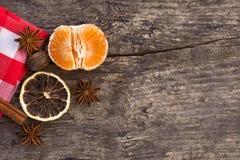 Mandarines et épices Photos libres de droits