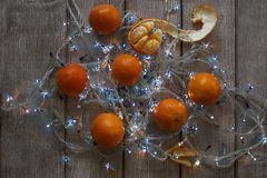 Mandarines et lampes-torches Photos libres de droits