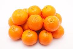 Mandarines na biały tle Zdjęcie Royalty Free