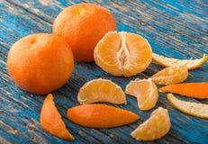 Mandarines op de lijst Royalty-vrije Stock Afbeelding