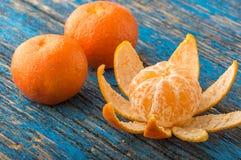 Mandarines op de lijst Stock Afbeelding