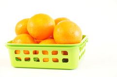 Mandarines oranges mûres d'isolement Images libres de droits