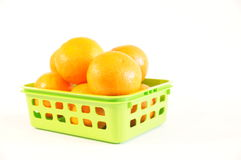 Mandarines oranges mûres d'isolement Photo stock