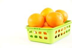 Mandarines oranges mûres d'isolement Photos libres de droits