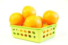 Mandarines oranges mûres d'isolement Photographie stock