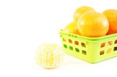Mandarines oranges mûres d'isolement Photos stock