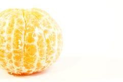 Mandarines oranges mûres d'isolement Photographie stock libre de droits