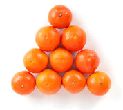 Mandarines pyramid Stock Images
