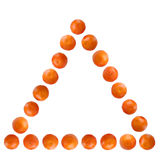 Mandarines pyramid Stock Image
