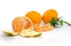 Mandarines sur la table Images stock
