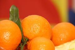 Mandarines sur la table du ` s de nouvelle année Photo stock