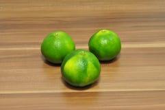 Mandarines verdes Fotografía de archivo