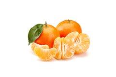 Mandarines on white background Royalty Free Stock Photos