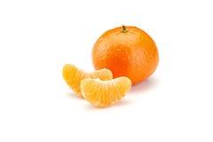 Mandarines on white background Royalty Free Stock Images