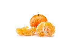 Mandarines on white background Royalty Free Stock Image