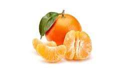 Mandarines on white background Royalty Free Stock Photography