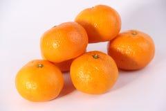 Mandarines with white background Royalty Free Stock Photos