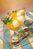 Mandarines y ensalada del melón Foto de archivo libre de regalías