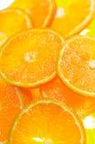 Mandarinescheibe lizenzfreie stockbilder