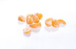Mandarinesegmente Stockbilder