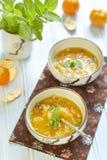 Mandarinesuppe Stockfoto