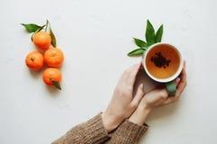 Mandarinfrukt är smaklig mat Arkivbilder