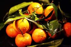 Mandarinfrukter, nytt och sunt arkivbilder