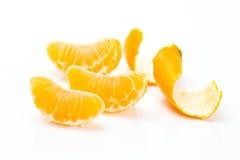 Mandarini affettati Fotografia Stock Libera da Diritti