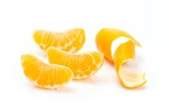Mandarini affettati Fotografie Stock
