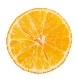 Mandarini arancio freschi isolati su un fondo bianco Immagine Stock