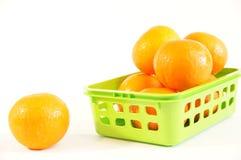 Mandarini arancio maturi isolati Immagini Stock Libere da Diritti