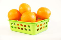 Mandarini arancio maturi isolati Immagini Stock