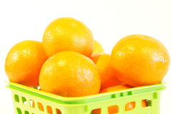 Mandarini arancio maturi isolati Fotografia Stock