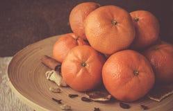 Mandarini del ` s del nuovo anno immagini stock libere da diritti