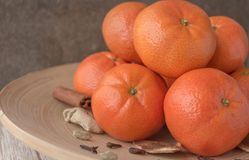 Mandarini del ` s del nuovo anno fotografia stock libera da diritti