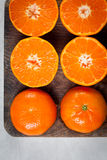 Mandarini divisi in due Immagini Stock Libere da Diritti