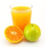 Mandarini e spremuta fotografie stock