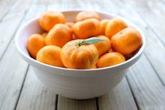 Mandarini imperfetti del satsuma Fotografia Stock